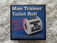 Novelty Boxed 'Man Trainer Toilet Roll' / Stockingfiller/ Secret Santa