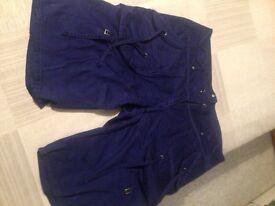 Next ladies cargo shorts, size 14, deep purple colour