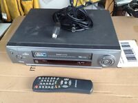 Samsung video recorder Model SV-620B (VHS) complete with remote, scartt leads etc.