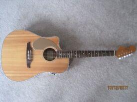 Left Handed Fender Sonoran and Fender Bag