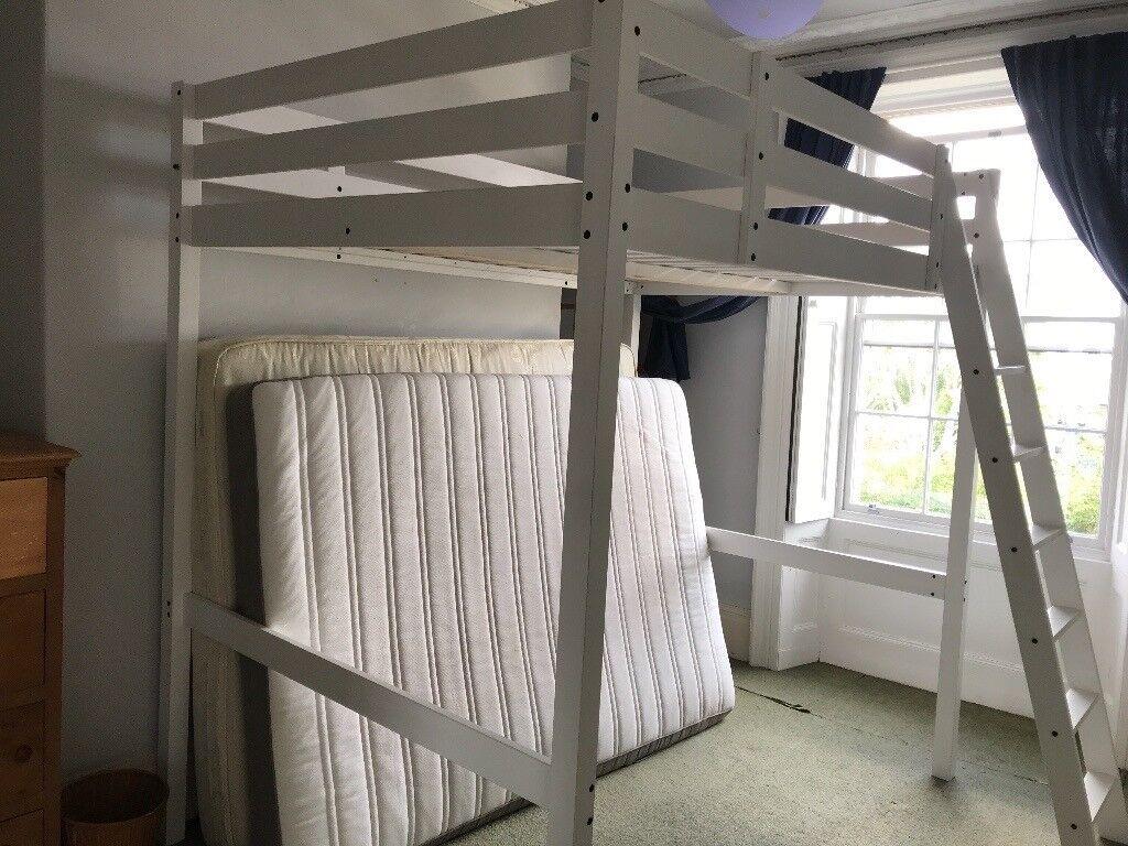 5c01b10cb35ec STORÅ IKEA Double Adult Loft bed frame. White stain 140 x 200 cm ...