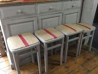 Shabby chic vintage stools