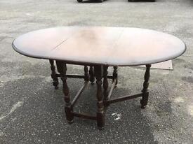 Vintage drop Leaf Extending dining table