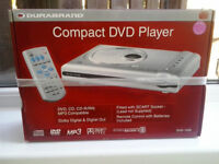 Durabrand Compact DVD Player (unused and still boxed)