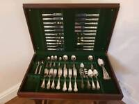 112 piece Silver Plated Slack & Barlow Canteen of Cutlery set
