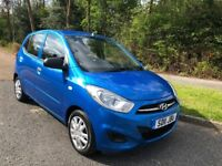 HYUNDAI i1O CLASSIC 5 DOOR 11 REG IN MIAMI BLUE WITH BLACK TRIM, SERVICE HISTORY AND MOT MAY 2019