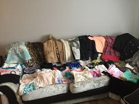 11,12,13yr old 60+ items clothing bundle, river island, new look, m&co, primark, george