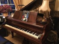 Baldwin baby grand plays lovely re strung around 10 years ago ,very reluctant sale