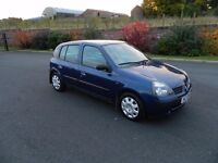 02 Renault Clio 1.2 petrol 6 months MOT ,only 78k miles