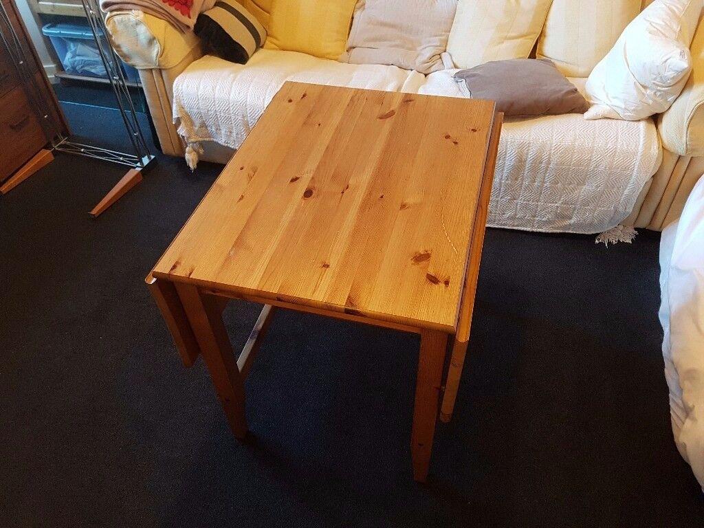 Dark oak wood dining table