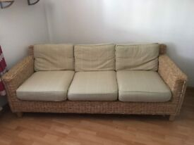 """""""Next"""" brand Wicker sofa and arm chair"""