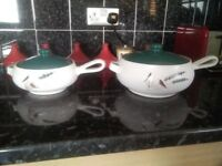 Denby Greenwheat serving dishes