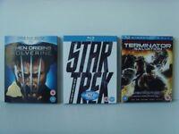 NEW Blu-ray Movies X-Men, Star Track, Terminator