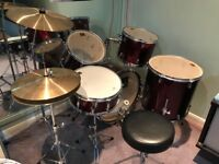 Remo 5 Piece Drum Kit, full size, excellent condition, purchased new for my son about 5 years ago.