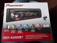 Pioneer bluetooth cd car radio. Perfect conditon selling due to new car