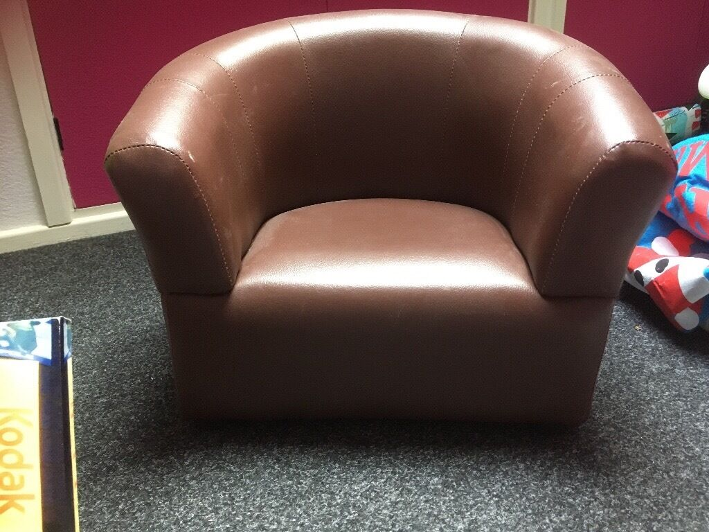 Childs faux leather tub chair | in Sheffield, South Yorkshire | Gumtree