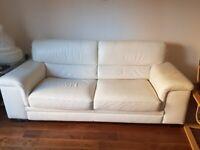 Leather Sofa & Armchair & Footstall