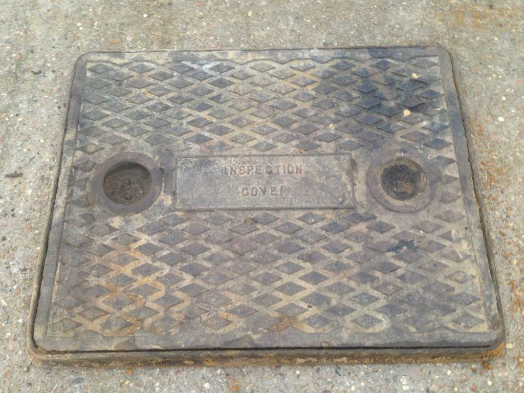 Cast Iron Manhole Inspection Cover In Chelmsford Essex