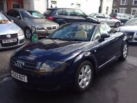 AUDI TT 1.8 TURBO ROADSTER 150BHP CONVERTIBLE 2004 MINT FULL HISTORY LEATHER LONG MOT 2 KEYS