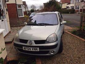 Renault Clio Privilege 1.4 2004 - Low milage, 9 months MOT, Good condition