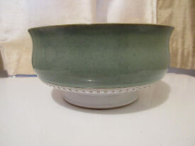 """RARE COLLECTABLE GREEN DENBY POTTERY """"CASTILLE"""" DESIGN BOWL..Absolutely MINT......£10."""