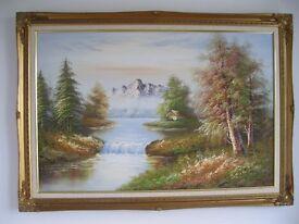 Landscape oil painting on canvas 36'' x 24''