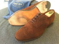 Church's Custom Grade Real Cape Buck Brogues, Brown, size 10