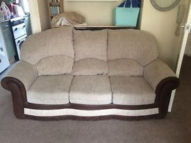 Fabric sofa and chair GOOD condition