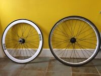 *FREE* fixie fixed gear front and rear wheel