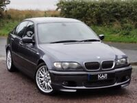 BMW E46 325i M Sport Saloon, Auto, 03 Reg, 55k Miles, 2 Owners, MOT: 1 Year, Steel Grey