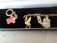 Liverpool fc charm bracelet with certificate
