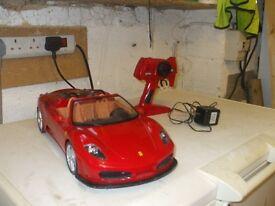 RC Large Car Ferrari (Includes batterys)