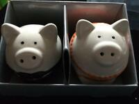 Brand New Pig Salt and Pepper Shakers