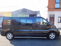 RARE 2.5 150 BHP Renault Trafic LWB sport 6 seat factory fitted crew van 1 owner from new F/S/H(21)