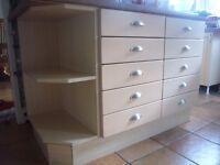 Solid Pear Wood Kitchen Units