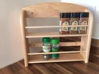 Wooden spice rack, never used