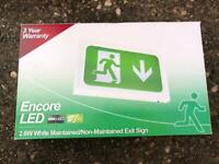 Fire Exit sign Led maintained/ Non maintened 2.6w