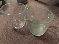 2 x measuring jugs and one measuring container