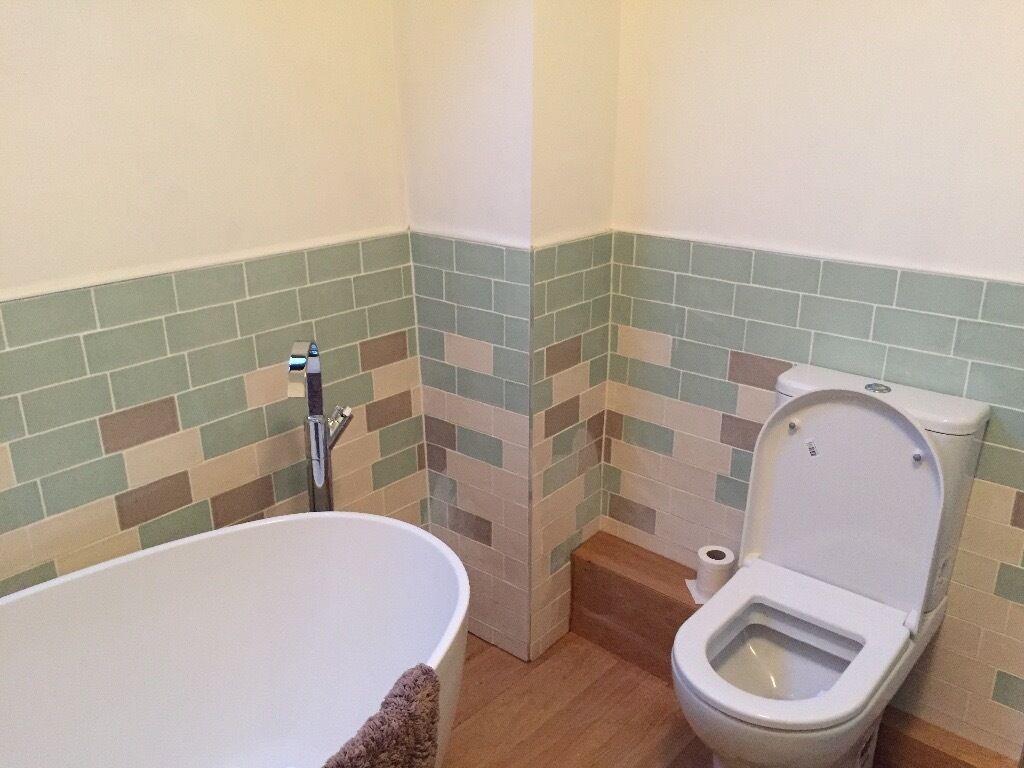 Laura ashley bathroom tiles - Laura Ashley Artisan Tiles Cobblestone Pale Biscuit Eau De Nil