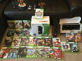 XBOX 360 250GB with Kinect & Skylanders & 25 games