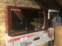 Russell Hobbs Red Digital Microwave