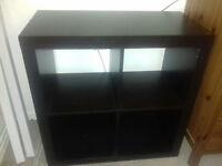 Black ikea expedite storage unit