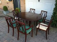 Dining table and chairs G PLAN