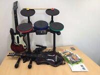 Xbox 360 Guitar Hero World Tour Bundle w/ Drums, 6 Games and 2 Guitars