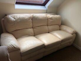 3 seater leather Sofa electric seats