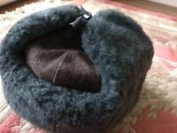 New Russian hat, ushanka, genuine, with badge, see pictures