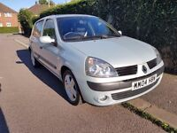 Renault Clio Dynamique 1.4 Petrol 16v Silver. Great Condition, Only 35500 miles! 12 Months MOT