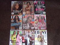 Ebony magazines.