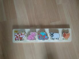 Wooden baby puzzle