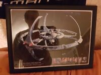 Star trek Deep space nine 9 framed photo black finish